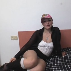 She calls her boyfriend while she's fucked. Andrea, the cleaning lady, makes porn